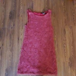Burgundy rosette mini dress